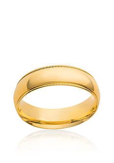Belk & Co. 10k 5-mm. Comfort Feel Milgrain Ring