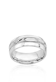 Belk & Co. 8mm Diamond Cut Sterling Silver Engraved Band