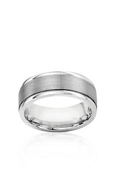 Belk & Co. Sterling Silver Engraved Comfort Feel Band With Satin Finish