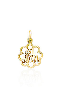 Belk & Co. 14k Yellow Gold #1 Mom Charm