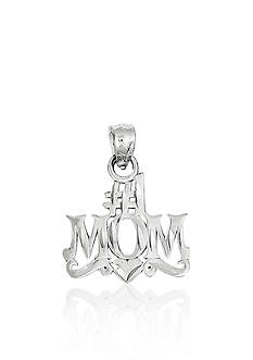 Belk & Co. 14k White Gold #1 Mom Charm