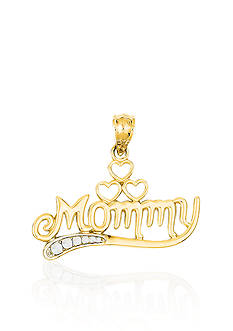 Belk & Co. 14k Yellow Gold Mommy Charm