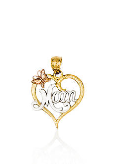 Belk & Co. 14k Two Tone Gold Mom Heart Charm