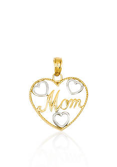 Belk & Co. 14k Yellow Gold Mom Heart Charm