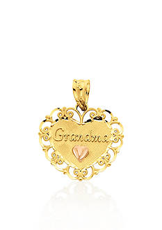 Belk & Co. 14k Two Tone Gold Grandma Heart Charm