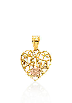 Belk & Co. 14k Two Tone Gold Nana Heart Charm