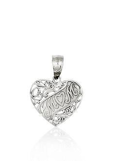 Belk & Co. 14k White Gold Mom Heart Charm