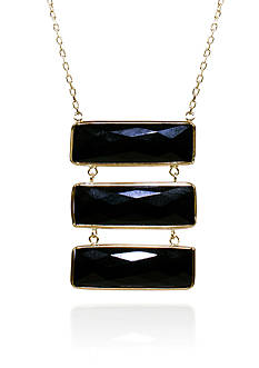 Belk & Co. Onyx Pendant in 14k Yellow Gold