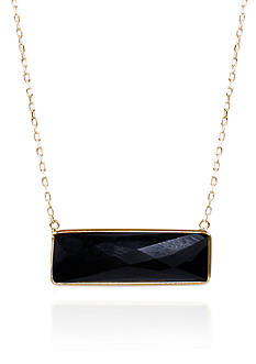 Belk & Co. Onyx Bar Pendant in 14k Yellow Gold