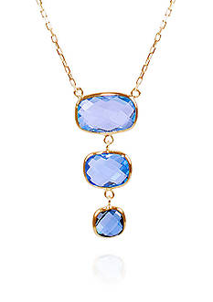 Belk & Co. Blue Topaz Necklace in 14k Yellow Gold