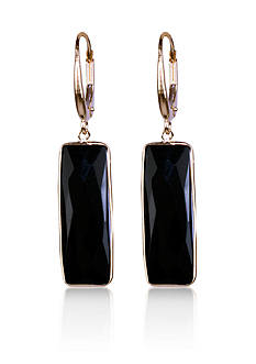 Belk & Co. Onyx Drop Earrings in 14k Yellow Gold