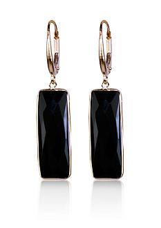 Belk & Co. Onyx Drop Earrings in 14k Yellow Gold