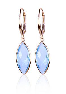 Belk & Co. Blue Topaz Drop Earrings in 14k Yellow Gold