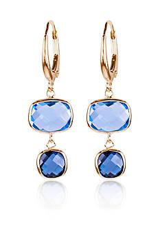 Belk & Co. Sky and London Blue Topaz Earrings in 14k Yellow Gold