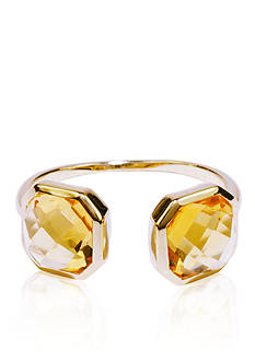 Belk & Co. Citrine Open Ring in 14k Yellow Gold