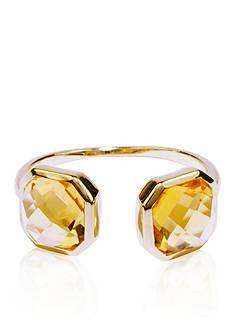 Belk & Co. Citrine Open Ring in 14k Yellow Gold