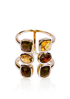 Belk & Co. Garnet Cuff Ring in 14k Yellow Gold