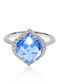 Belk & Co. Sky Blue Topaz and White Topaz Ring in Sterling Silver