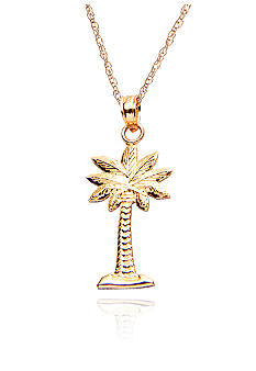Belk & Co. Palmetto Palm Tree Pendant in Yellow Gold