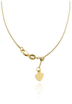 Belk & Co. 14K Yellow Gold Adjustable Chain