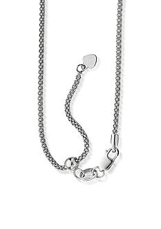 Belk & Co. Sterling Silver Adjustable Popcorn Chain