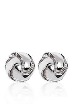 Belk & Co. Sterling Silver Love Knot Studs