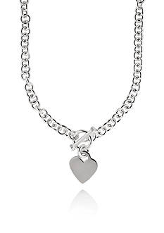 Belk & Co. Sterling Silver Toggle Heart Necklace