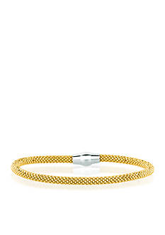 Belk & Co. Sterling Silver Yellow Gold Plated Mesh Bangle