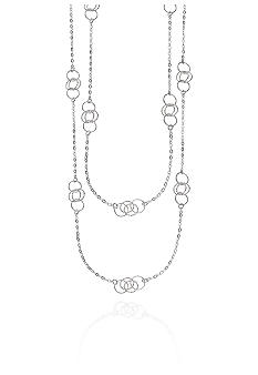 Belk & Co. Round Diamond Cut Necklace in Sterling Silver