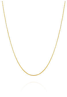 Belk & Co. 14K Yellow Gold 20 Inch 0.6 Millimeter Box Chain