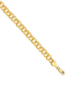 Belk & Co. 14k Yellow Gold Charm Link Bracelet