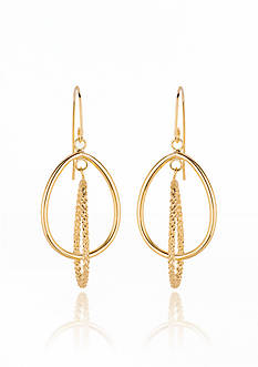 Belk & Co. 14k Yellow Gold Double Oval Hoop Earrings