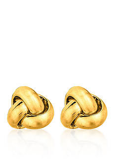 Belk & Co. 14k Yellow Gold Love Knot Earrings