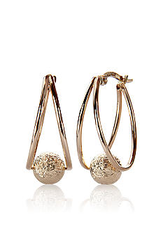 Belk & Co. 14k Hoop with Ball Earring