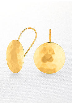 Belk & Co. Round Hammered Earrings in 14k Yellow Gold
