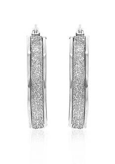 Belk & Co. 14k White Gold Hoop Earrings