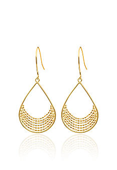 Belk & Co. Teardrop Chain Earrings in 14k Yellow Gold