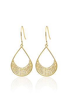 Belk & Co. Teardrop Chain Earrings in 14k Yellow Gold