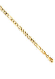Belk & Co. 14k Yellow Gold Figaro Link Bracelet