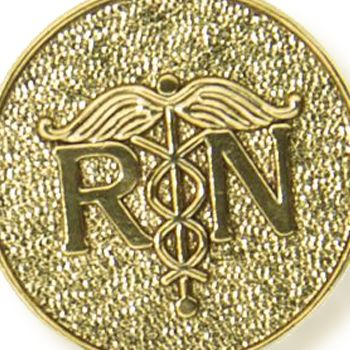 Charm Bracelets: Yellow Gold-Tone Angelica Registered Nurse Expandable Bangle
