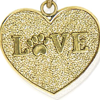 Charm Bracelets: Yellow Gold-Tone Angelica Love Expandable Bangle
