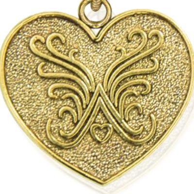 Charm Bracelets: Yellow Gold-Tone Angelica Brand Logo Expandable Bangle