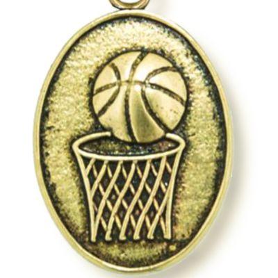 Charm Bracelets: Yellow Gold-Tone Angelica Basketball Expandable Bangle