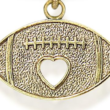 Charm Bracelets: Yellow Gold-Tone Angelica Football Expandable Bangle