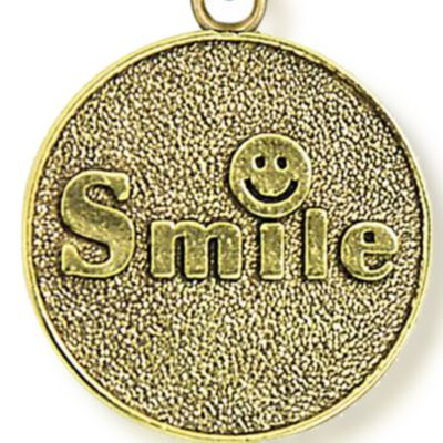 Charm Bracelets: Yellow Gold-Tone Angelica Smile Expandable Bangle