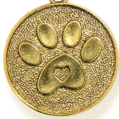 Charm Bracelets: Yellow Gold-Tone Angelica Paw Print Expandable Bangle