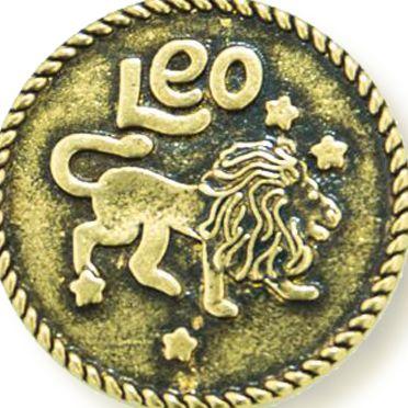 Charm Bracelets: Yellow Gold-Tone Angelica Leo Expandable Bangle