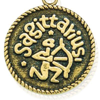 Charm Bracelets: Yellow Gold-Tone Angelica Sagittarius Expandable Bangle