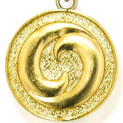 Charm Bracelets: Yellow Gold-Tone Angelica Yin Yang Expandable Bangle