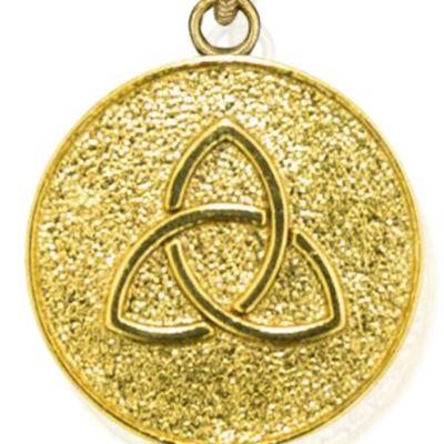 Charm Bracelets: Yellow Gold-Tone Angelica Triquetra Expandable Bangle